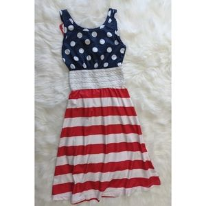 4th of July Red White Blue Dress, 3-4 years
